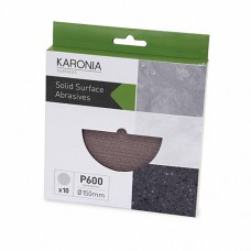 KARONIA Sanding Discs 150mm - P600 (Box of 10)