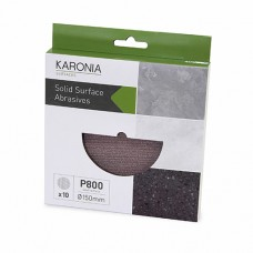 KARONIA Sanding Discs 150mm - P800 (Box of 10)