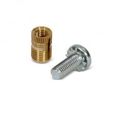 Fastening Bolts & Brass Plug Insert Set (Bag of 20) 15mm
